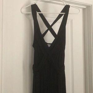 NWOT Motherhood maternity black comfy maxi dress